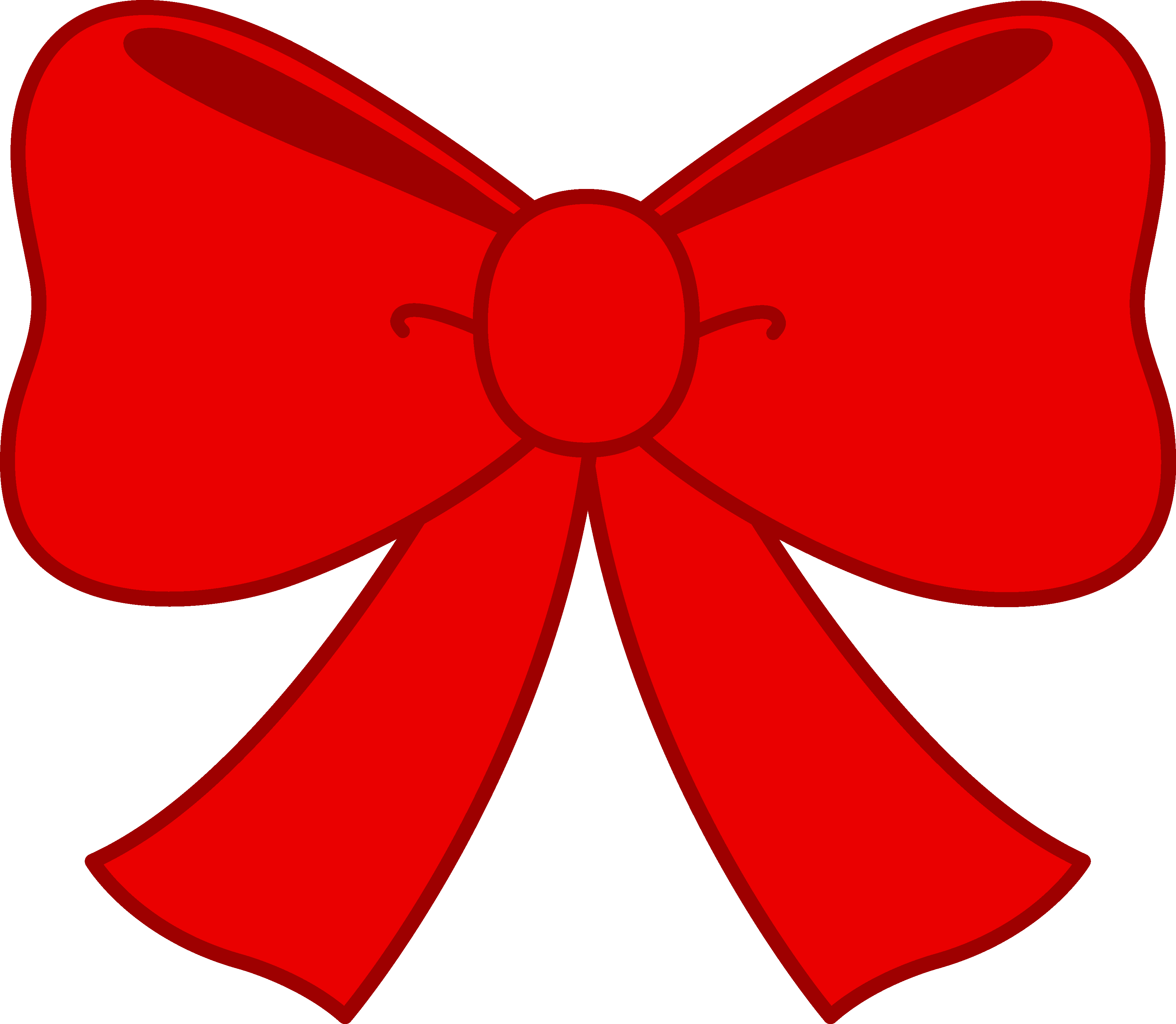 Cute Red Bow Clipart - Free .