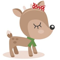 cute reindeer clipar .-cute reindeer clipar .-8