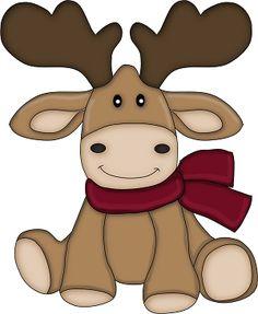 Cute Reindeer Clipart Line Art. Reindeer-Cute Reindeer Clipart Line Art. Reindeer decorated Christmas .-19