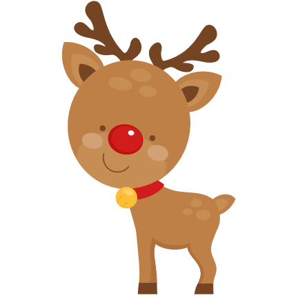 Cute Reindeer Svg Scrapbook C - Cute Reindeer Clipart