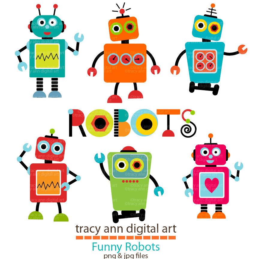 Cute Robot Clip Art Birthdays Brody Pinterest