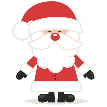 Cute Santa SVG scrapbook cut  - Cute Santa Clipart
