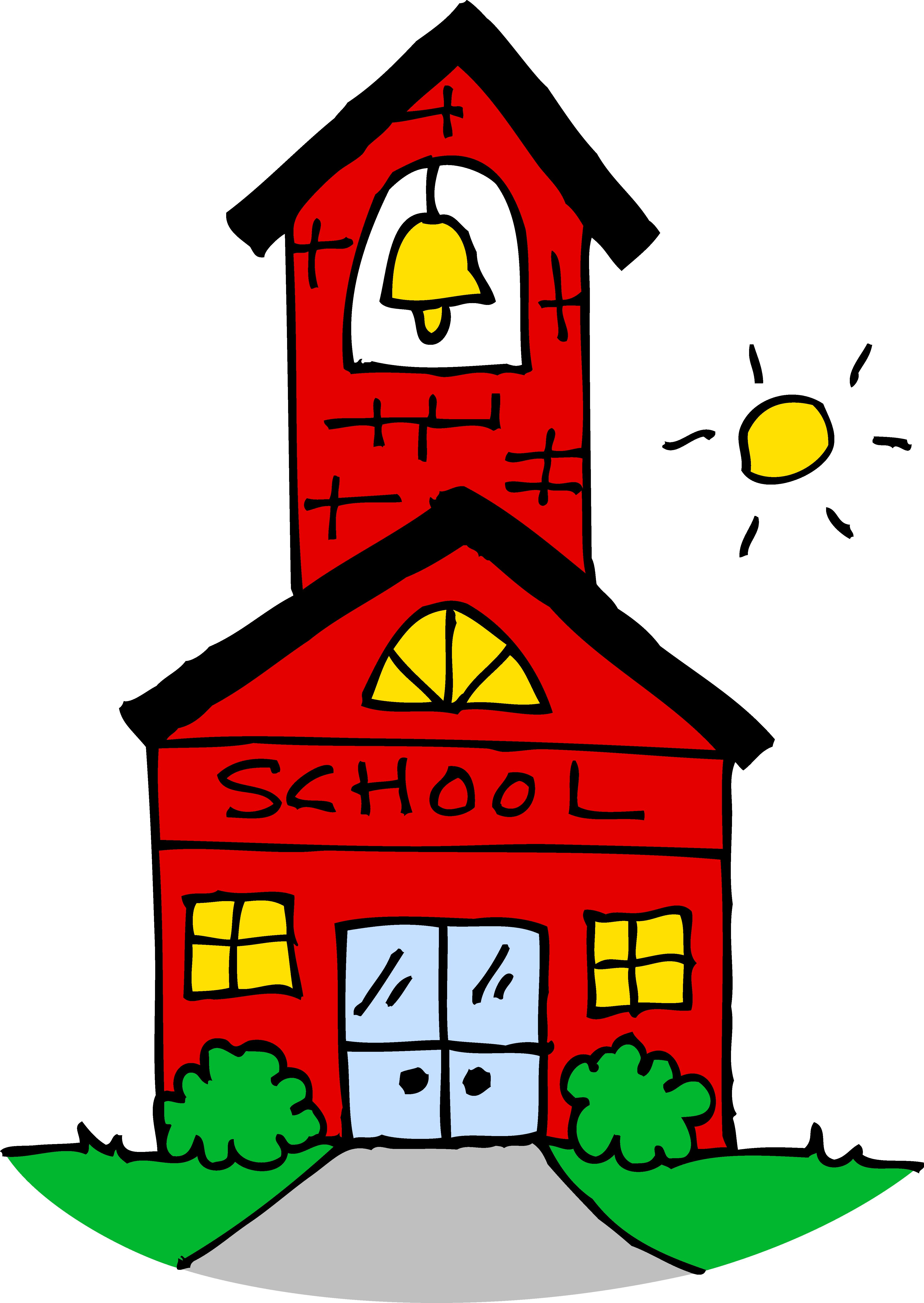Cute School House Clipart - Free Clip Ar-Cute School House Clipart - Free Clip Art-1