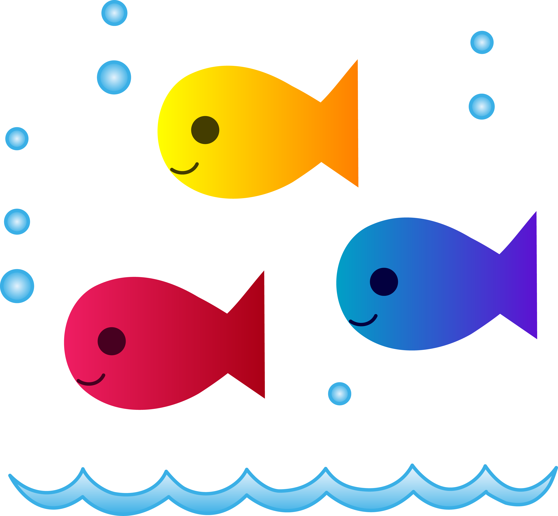 Cute School of Fish Swimming - Free Clip-Cute School of Fish Swimming - Free Clip Art-5