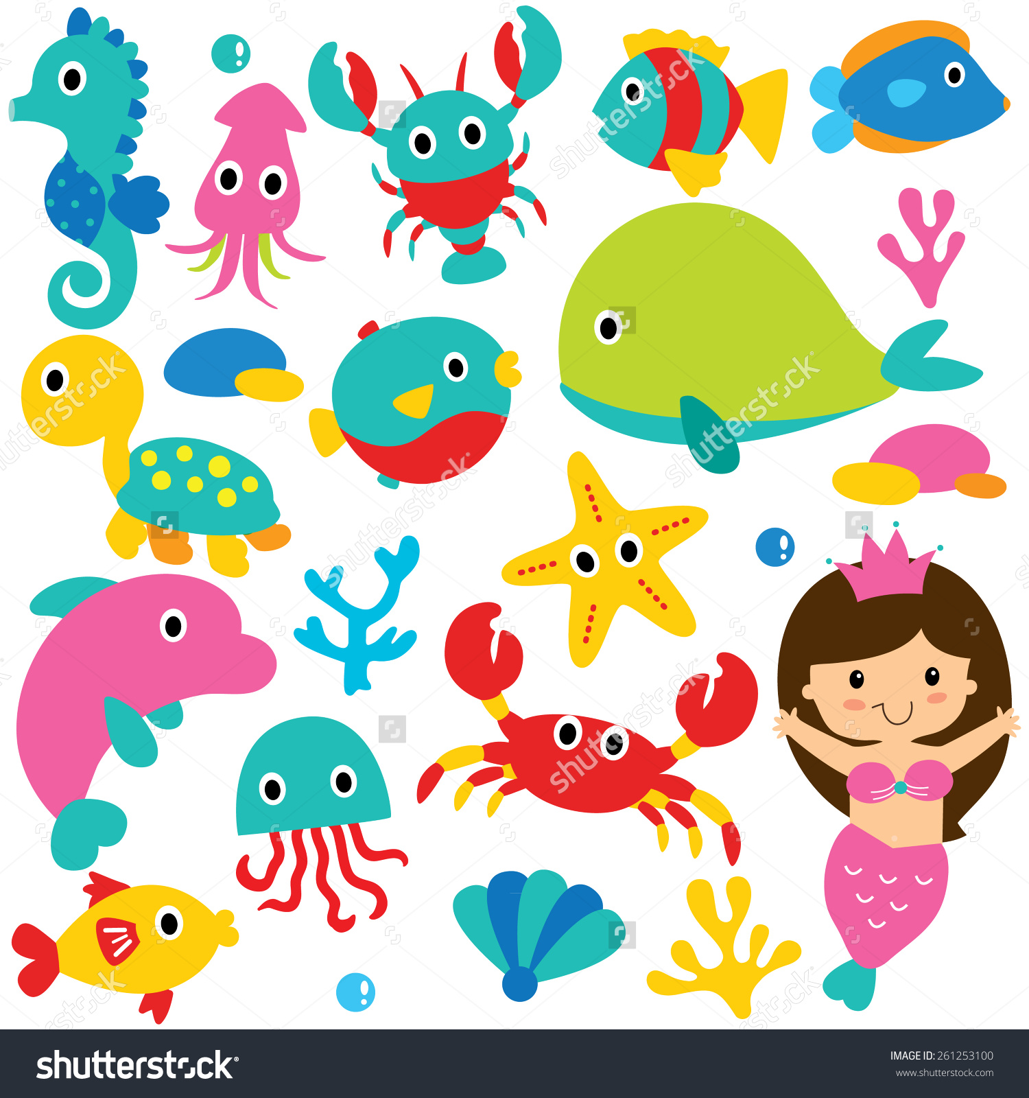 cute sea animals clip art ... Save to a lightbox