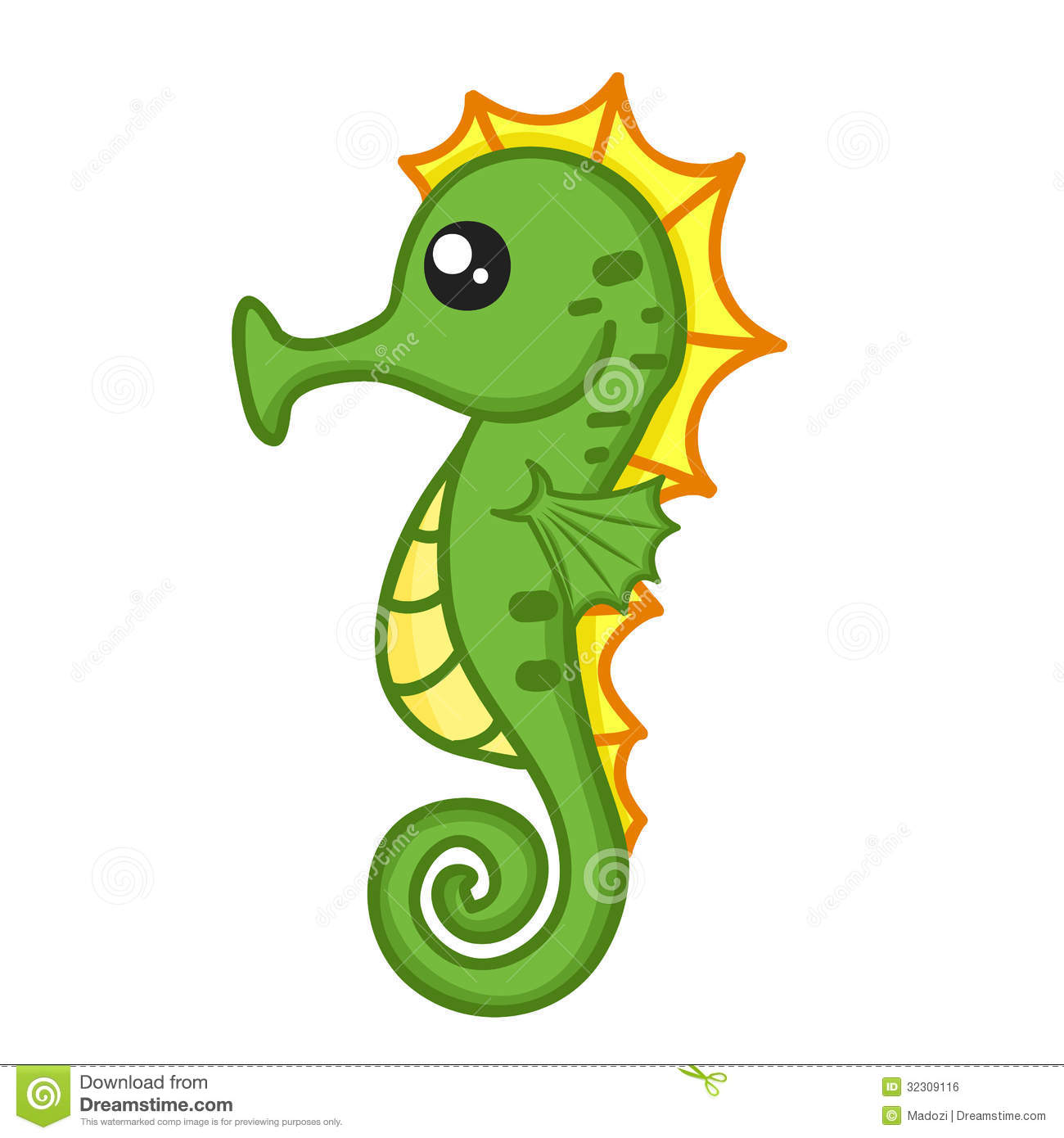 Cute Seahorse Royalty Free Stock Image Image 32309116