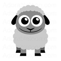 Cute sheep clipart from adorabletoon com-Cute sheep clipart from adorabletoon com la ferme-9