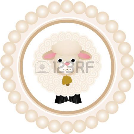 cute sheep: Cute Sheep Round Label-cute sheep: Cute Sheep Round Label-14
