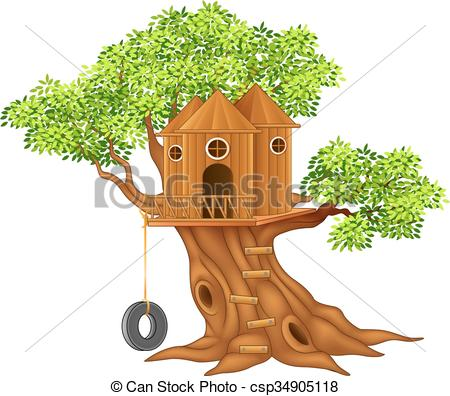 Cute small tree house - csp34905118