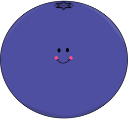 Cute Smiling Blueberry