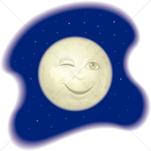 Cute Smiling Man In The Moon Moon Clipart