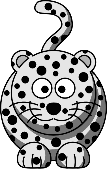 Cute Snow Leopard Clipart #1