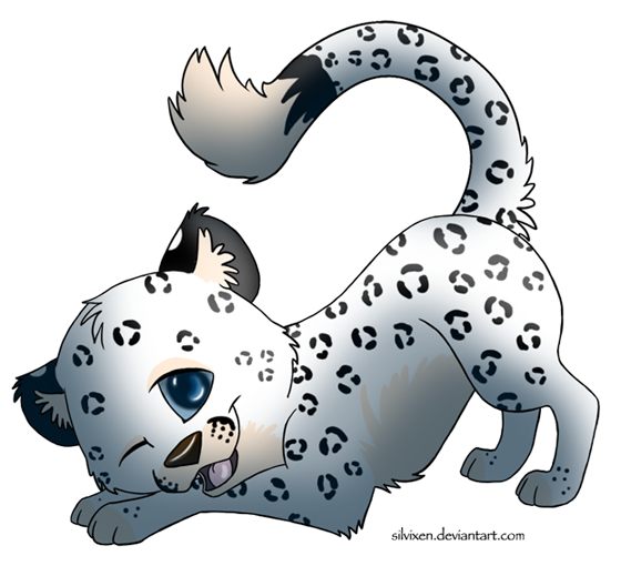 Cute Snow Leopard - Toon .