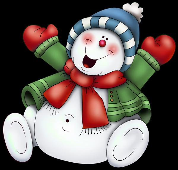 Cute Snowmen Neige Clipart . - Free Snowman Clipart