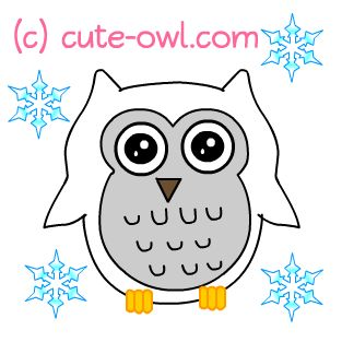 Cute Snowy Owl Clip-art-cute snowy owl clip-art-5