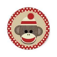 Cute Sock Monkey Free Clipart .