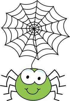 Cute Spider Web Clipart .