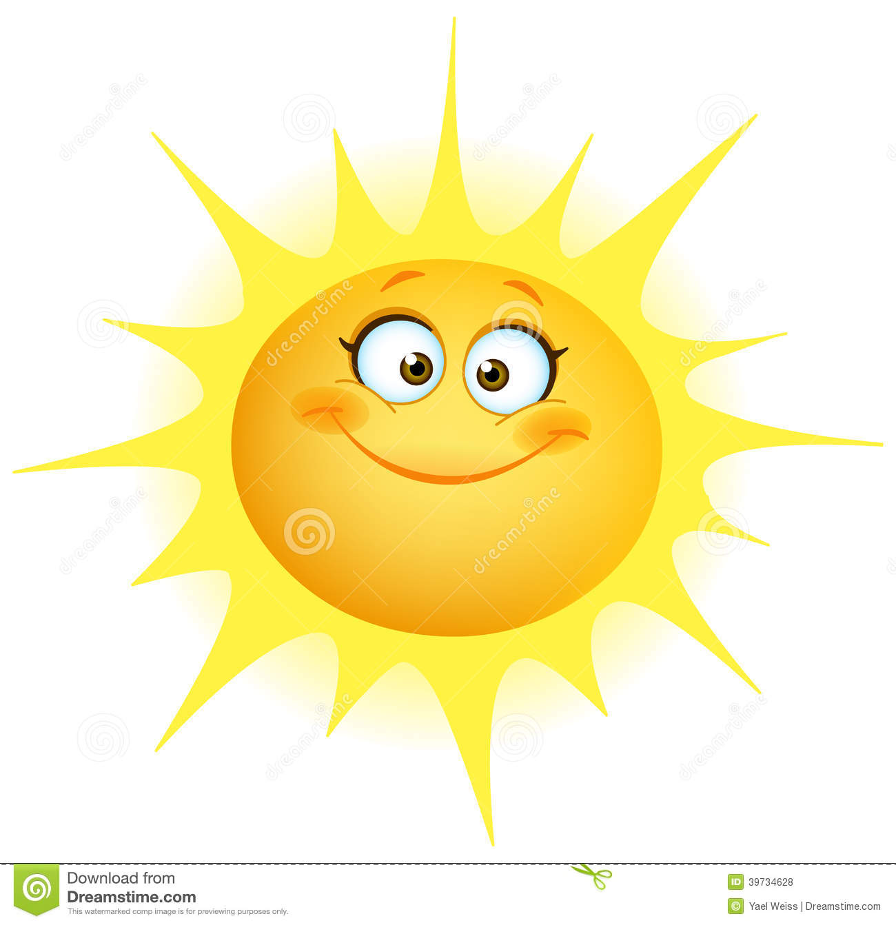 Cute Sun Stock Vector Image 39734628