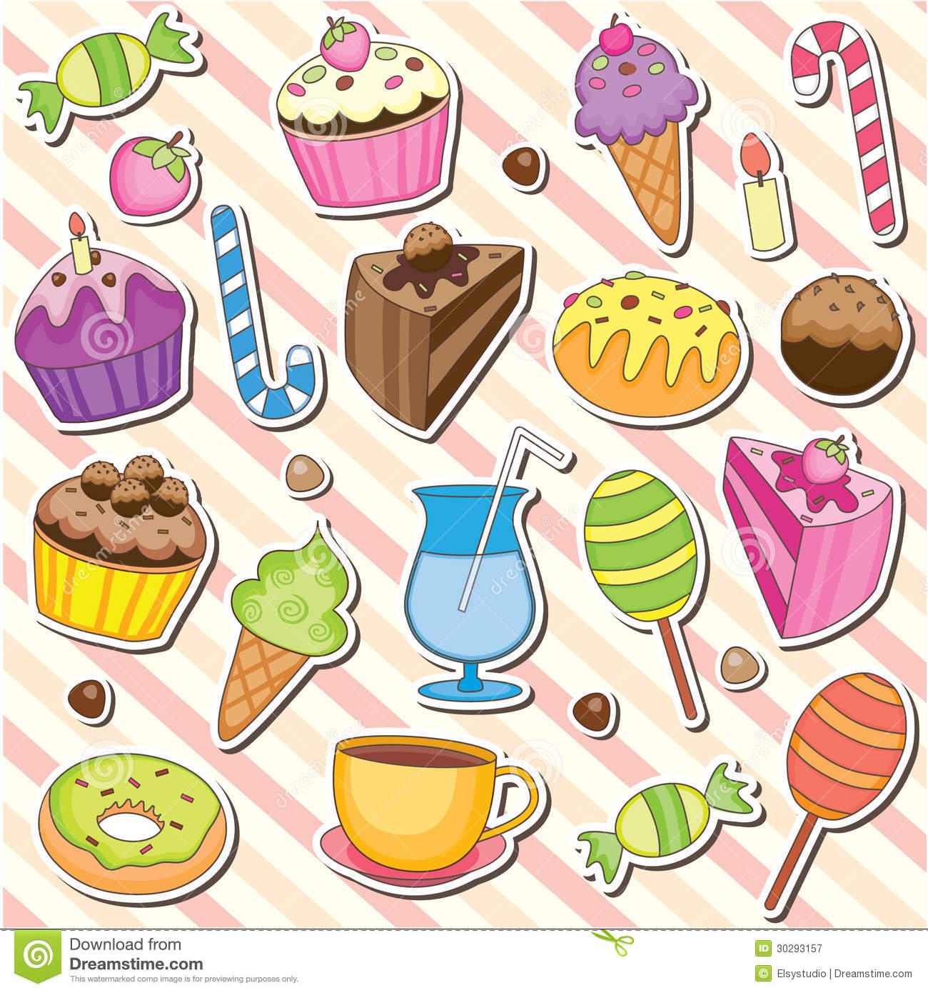 Cute Sweet Dessert Clip Art-Cute Sweet Dessert Clip Art-3