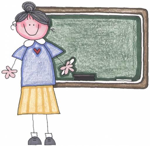 Teacher at Smartboard