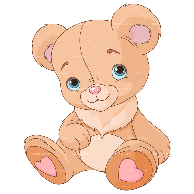 Cute teddy bear clipart