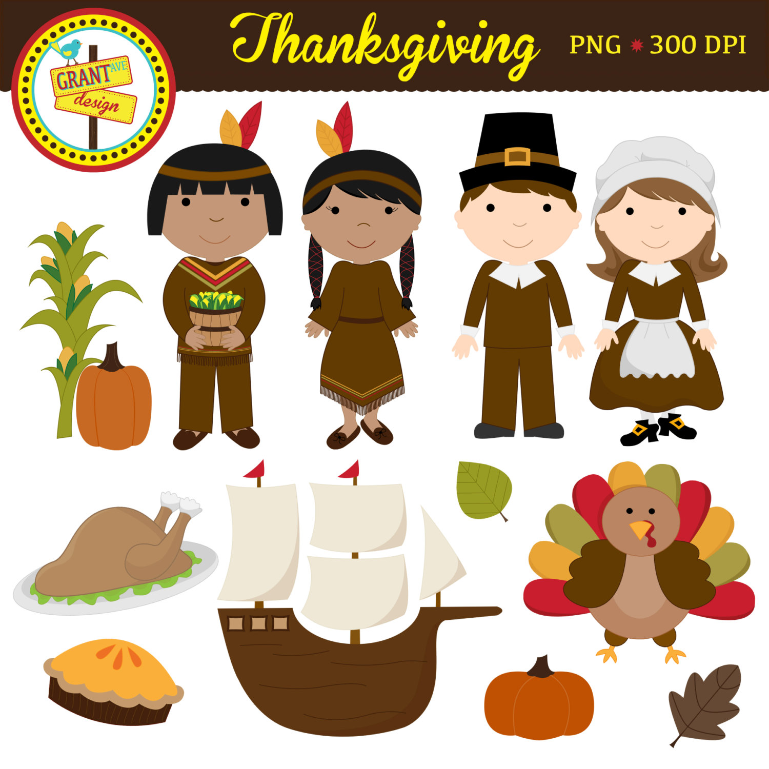 Cute thanksgiving dinner clip .-Cute thanksgiving dinner clip .-18