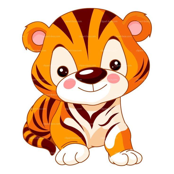 Cute Tiger Clip Art Clipart Cute Baby Tiger Royalty Free Vector