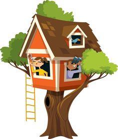 Cute tree house for bulletin .
