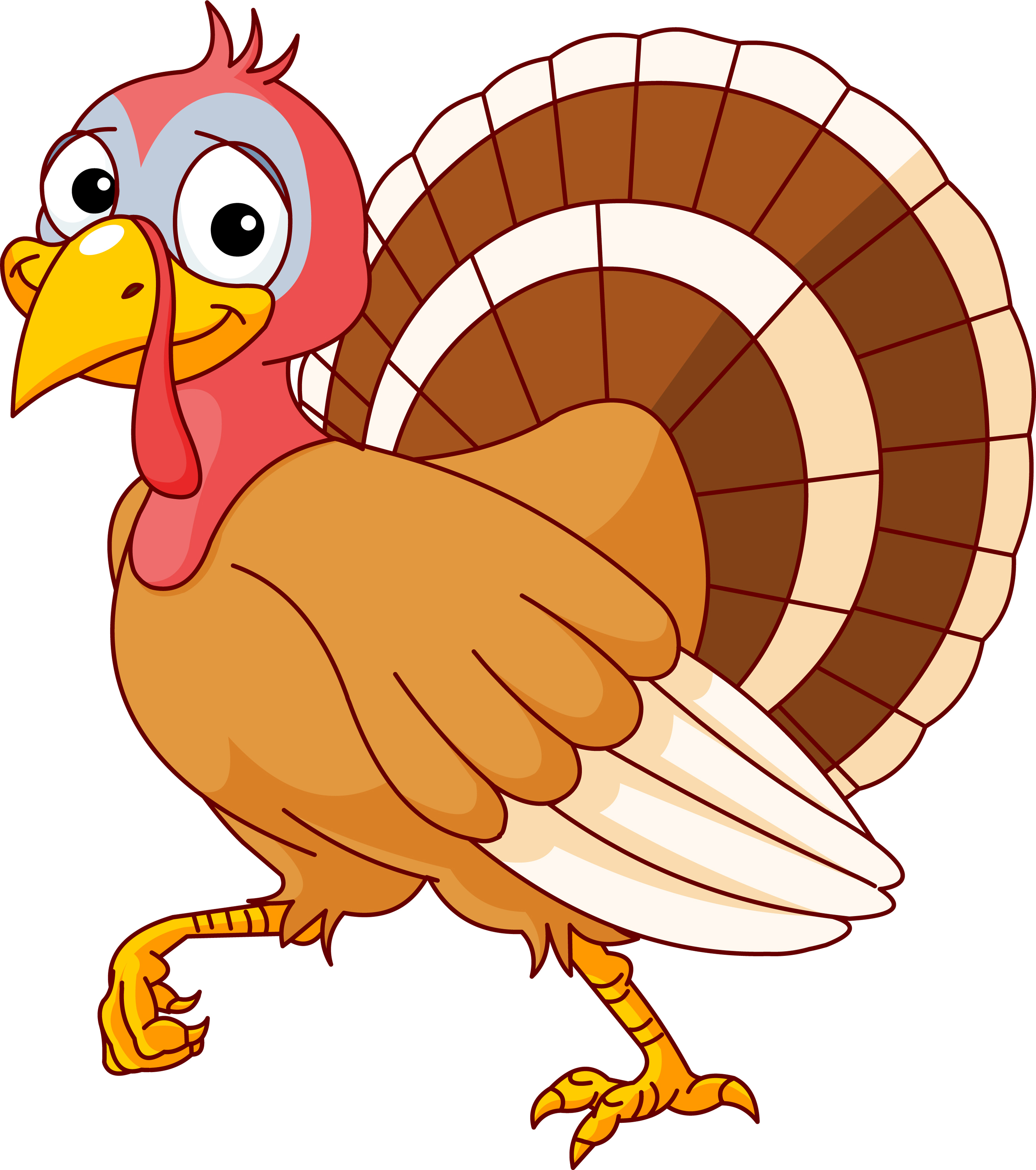 Cute turkey clipart tumundografico
