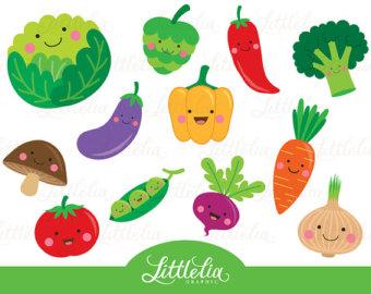 Cute vegetable clipart - Veggie clipart - 15063