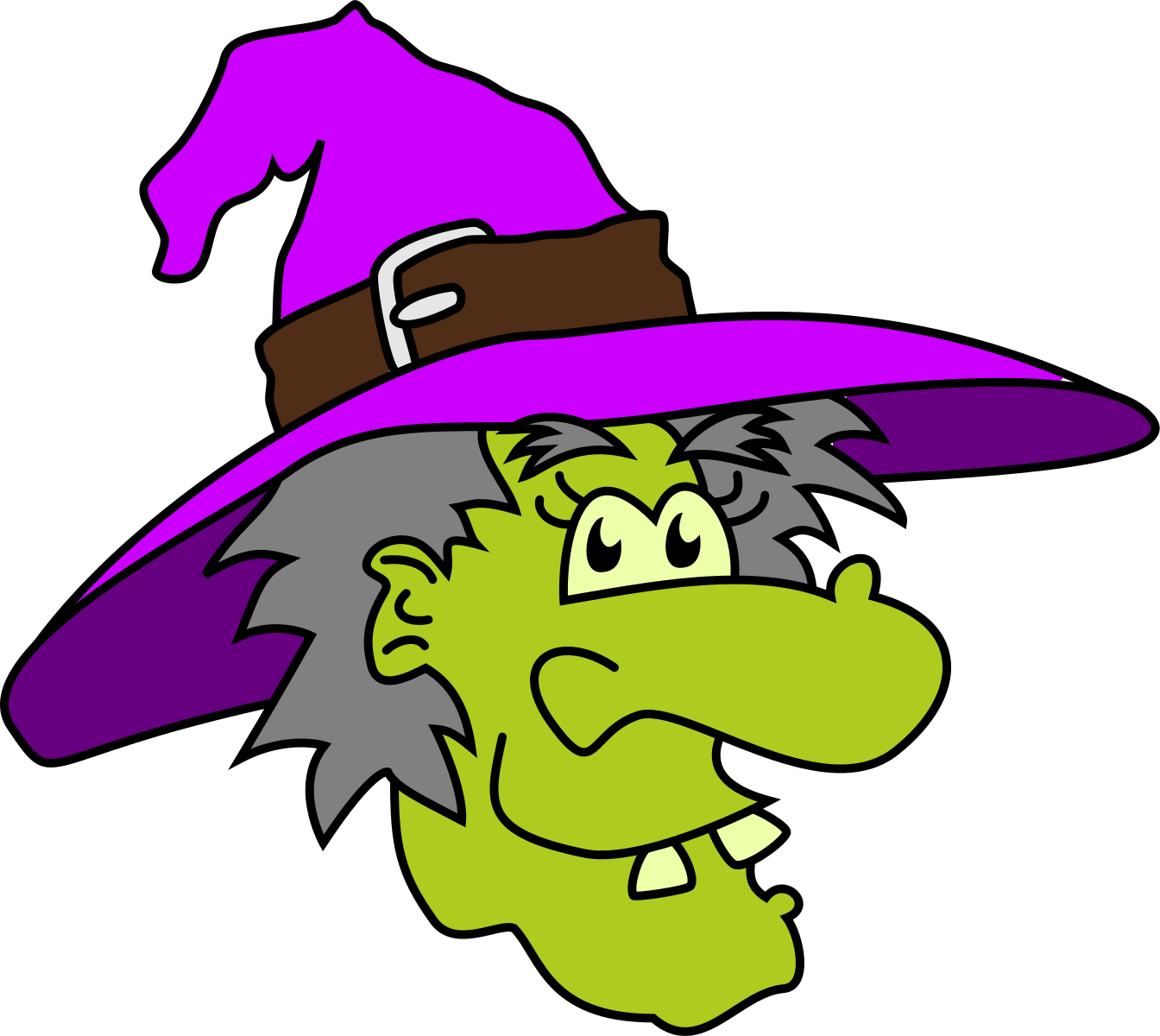 Witches clip art and hallowee