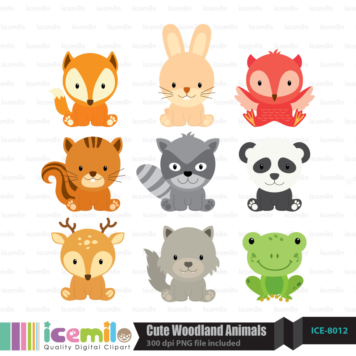 Cute Woodland Animal Clipart - Woodland Animal Clipart