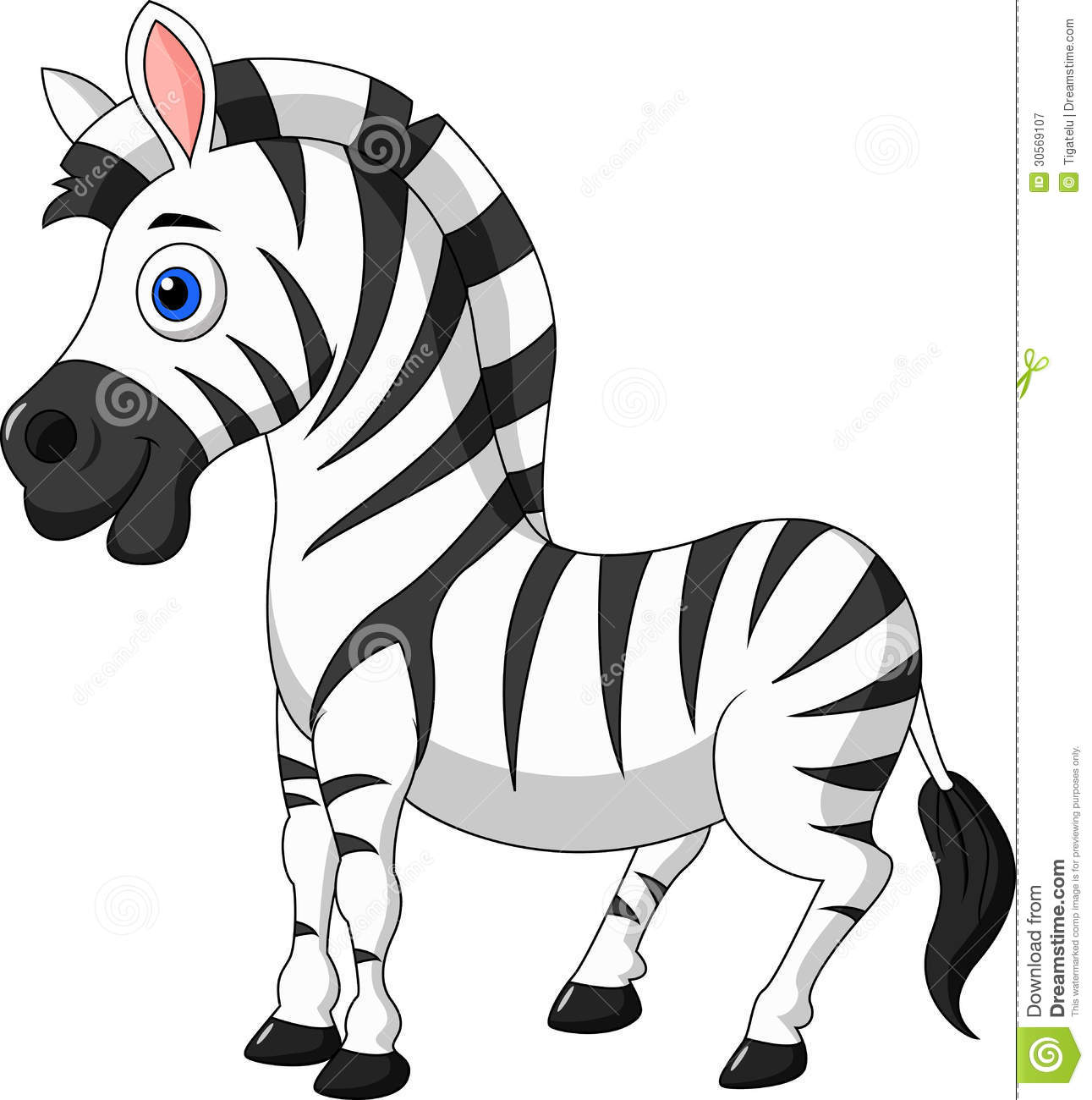 Cute Zebra Cartoon-Cute zebra cartoon-5
