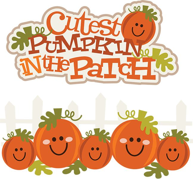 Cutest Pumpkin In The Patch Pumpkin Clipart Cute Pumpkin