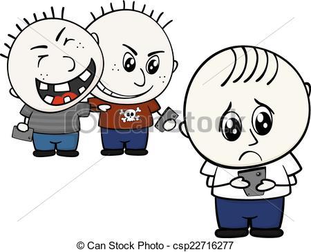 ... cyber bullying - little child bullie-... cyber bullying - little child bullied by mobile phone... ...-7