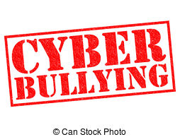... CYBER BULLYING Red Rubber Stamp Over-... CYBER BULLYING red Rubber Stamp over a white background.-8