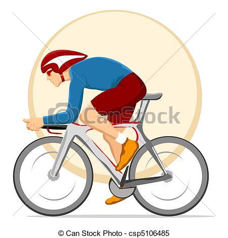 ... cyclist - illustration of man cyclin-... cyclist - illustration of man cycling on circular background-9