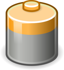 D Battery Clipart #1