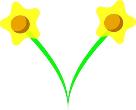 Simple Five Pettle Daffodil Clip Art-Simple Five Pettle Daffodil clip art-13