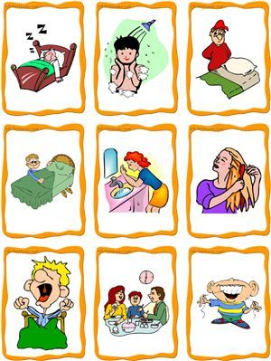daily routine clipart free . - Daily Routine Clipart