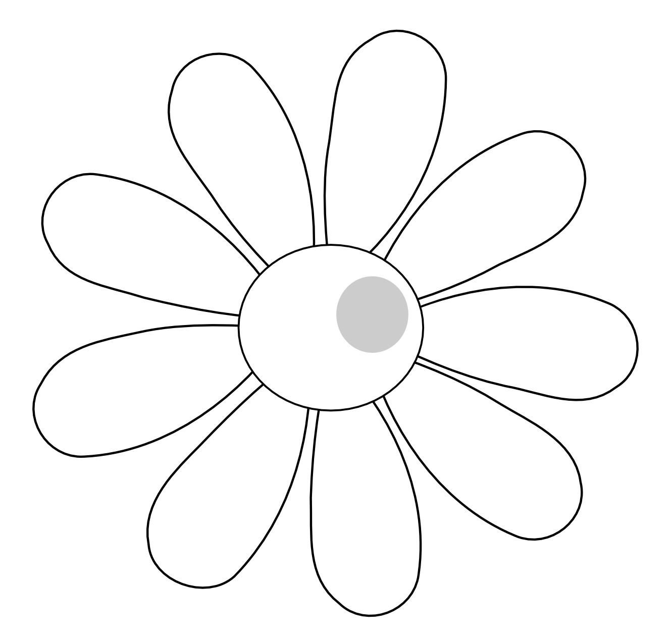 Daisy Clipart Black And White-daisy clipart black and white-16