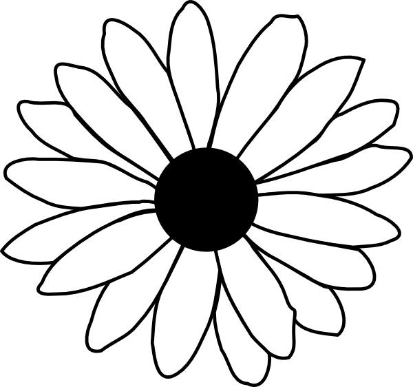 Daisy Clipart Black And White-daisy clipart black and white-7