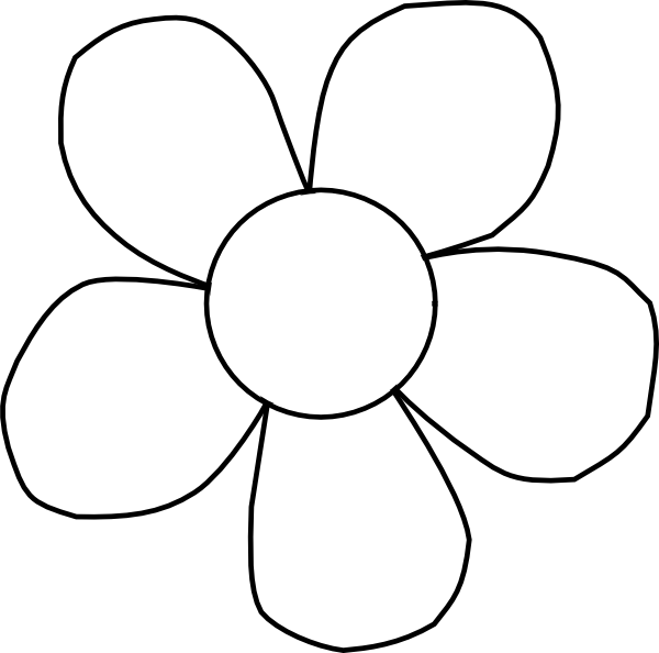 daisy clipart black and white - Daisy Clipart Black And White
