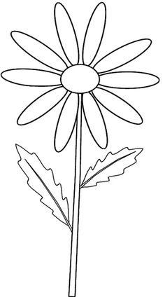 daisy clip art - Daisy Clipart Black And White