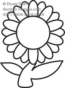 Daisy Flower Clip Art - Daisy Clipart Black And White