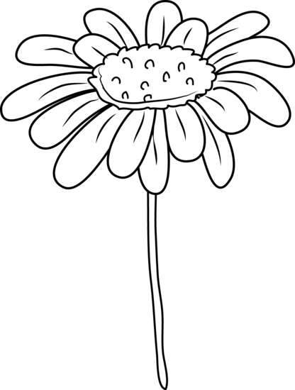 Daisy Flower Coloring Page-Daisy Flower Coloring Page-9