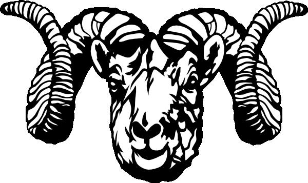 Dall Sheep Ram Clip Art At Cl - Ram Head Clip Art