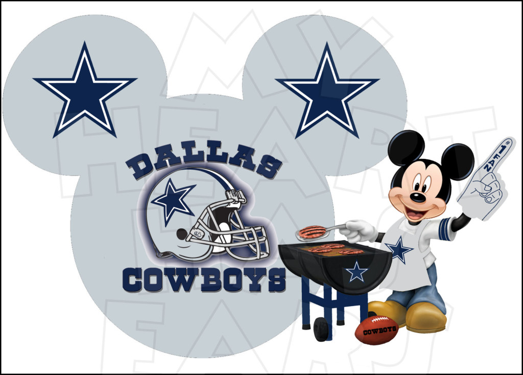 Dallas Cowboys With Mickey Mouse INSTANT-Dallas Cowboys with Mickey Mouse INSTANT DOWNLOAD digital clip art-14