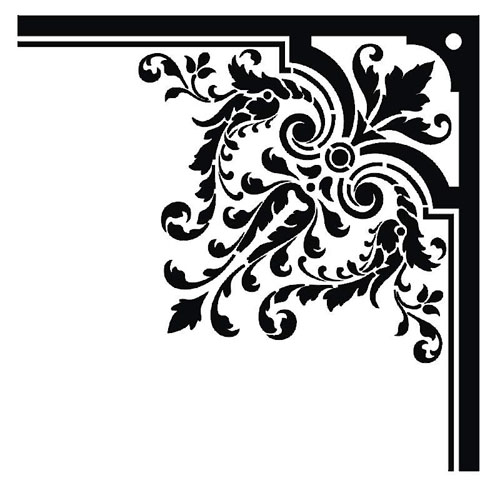 ... damask corner border clipart free cl-... damask corner border clipart free clip art images ...-14