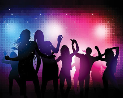 Dance Party Clip Art. Party People Vector